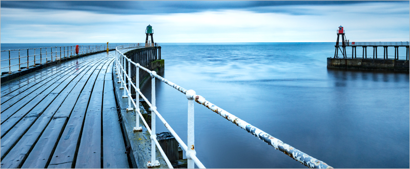 After the Shower, Whitby Pier